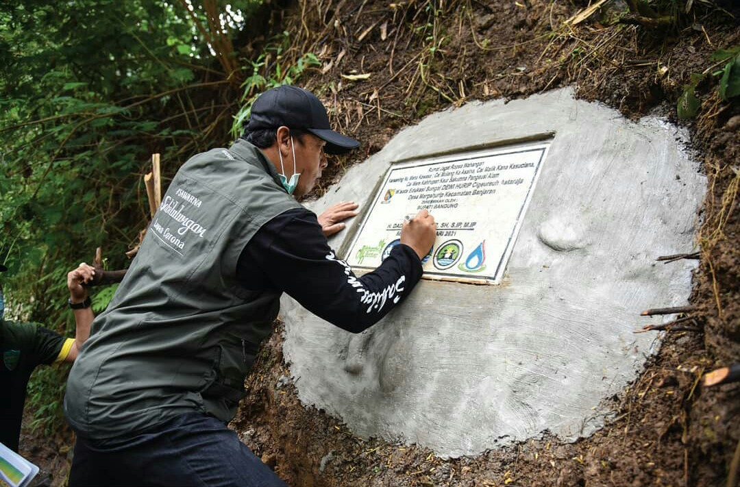 Bupati Bandung, Dadang Naser saat meresmikan
